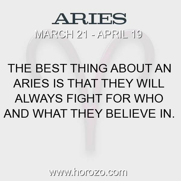 Aries zodiac fact