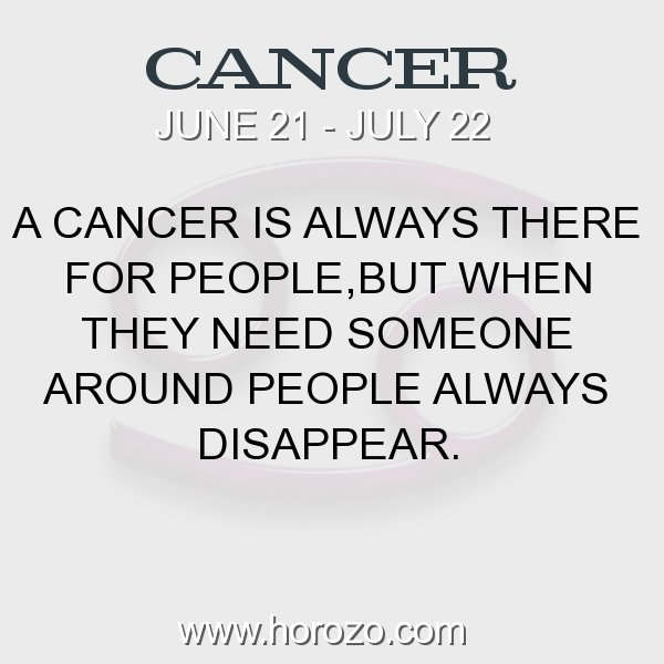 Cancer zodiac fact