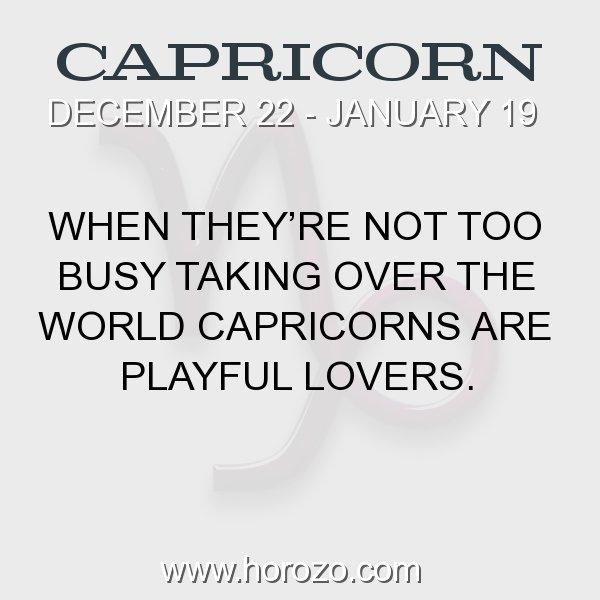 Capricorn zodiac fact