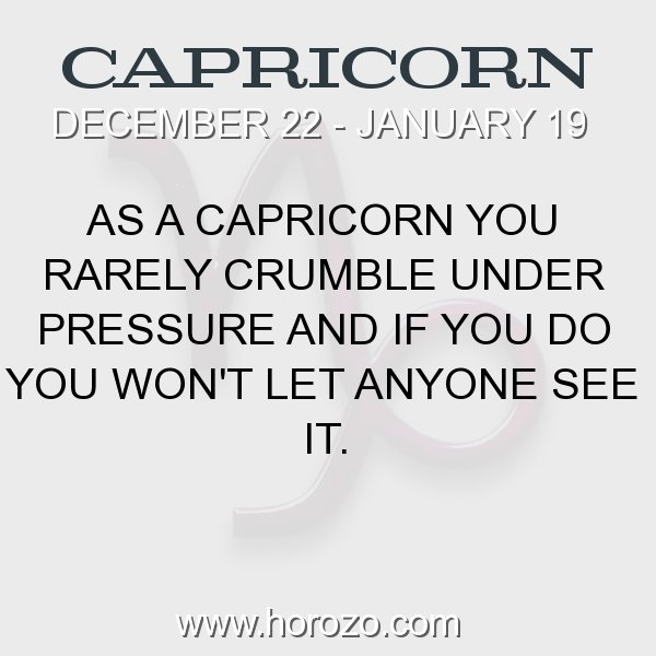 Capricorn zodiac fact