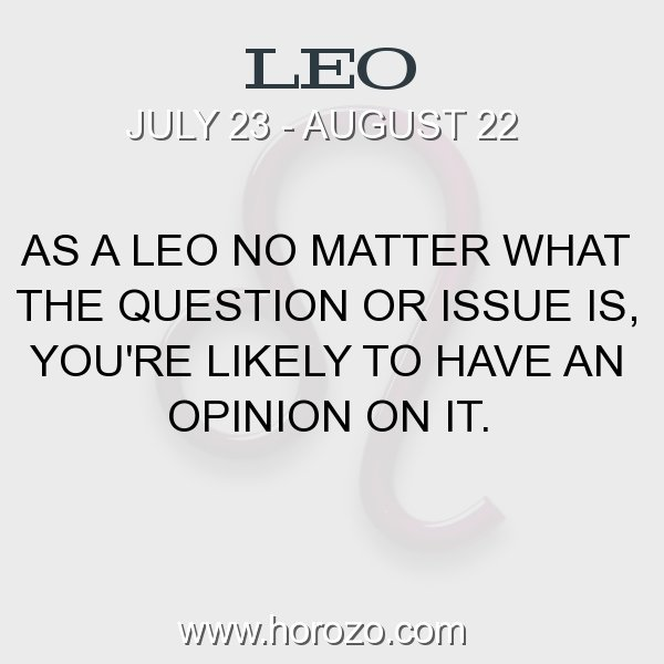 Leo zodiac fact
