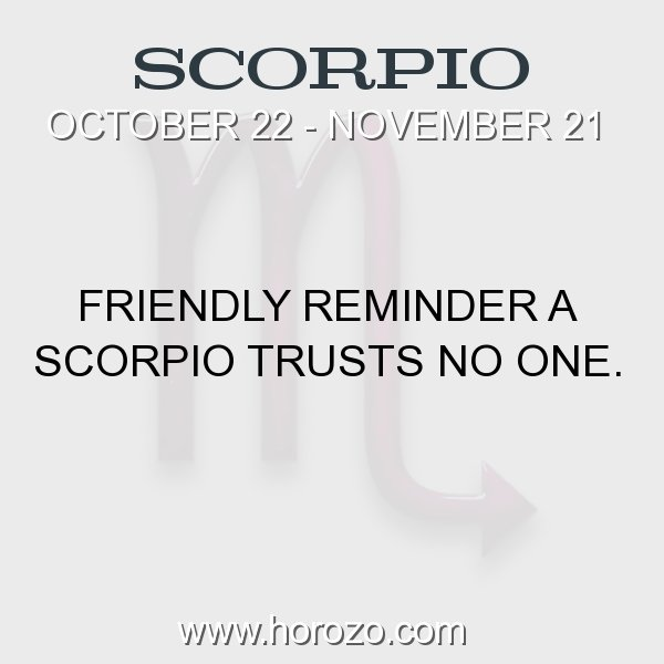 Scorpio zodiac fact